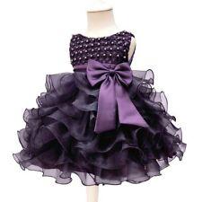 Organza Flower Girl Dress Gown Baby Party Wedding Birthday Princess Tutu Dresses