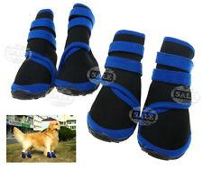 Wasserfeste Hunde Schuhe 4Pc Haustier Blau Neopren Schutzstiefel S/M/L