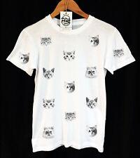 CAT facce T-SHIRT - PATTERN-GATTINA-VINTAGE-UNISEX - picco abbigliamento