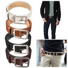 Men Women's Leather Dress Belt Casual Pin Buckle Waist Strap Belts Waistband Pre
