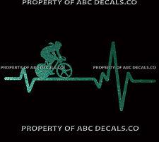 VRS HEART BEAT LINE CYCLING Bike Bicycle Time Trial Disc Women CAR METAL DECAL