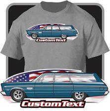 Custom Art T-Shirt 65 1965 Plymouth Fury II III 426 4 door Station Wagon V8