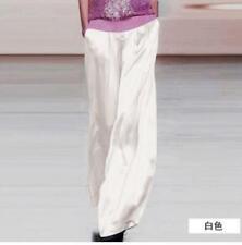 Chic Womens 100% Silk Palazzo Long Pants Wide Leg Trousers Loose Fashion Zsell