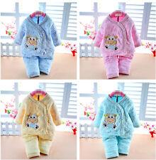 2pcs Newborn Baby Girls Boys Kids Cute Coat Tops+Pants Outfits Set Clothes 0-6M