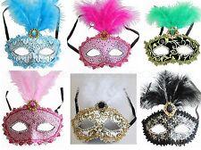 Venetian Masquerade Mask w/Feathers Party Prom Mardi Gras Wedding Halloween