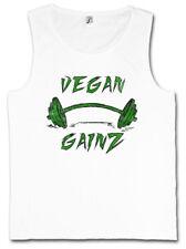 VEGAN GAINZ TANK TOP Muscles Bodybuilding Fitness Vegetarier Veganer Vegetarisch