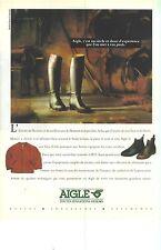 PUBLICITE advertising  1989   AIGLE  équipement équitation bottes