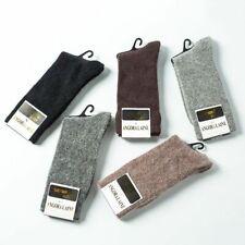1 Pair Angora Cashmere Wool Sock Mens Socks Comfortable Pure Color Warm