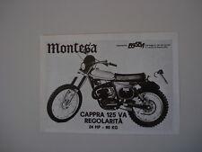 advertising Pubblicità 1976 MOTO MONTESA CAPPRA 125 VA REGOLARITA'