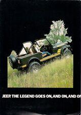 JEEP cj-7 RENEGADE 1983-84 UK Mercato PIEGA BROCHURE Open Top Hardtop Safari