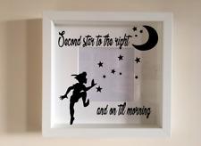 IKEA RIBBA Box Frame Personalised Vinyl Wall Art Quote Disney Peter Pan