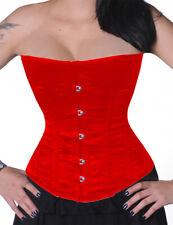 Halbbrustkorsett Schnür Korsett Rot Corsage Bodyshaper Gothic Shapewear Mieder