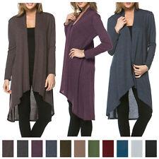 USA Women Long Maxi Cardigan Sweater Coat Knit Open Front Draped Hacci Outwear