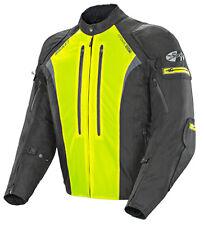 Joe Rocket Mens Atomic Ion Black HiVis Waterproof Street Sport Motorcycle Jacket
