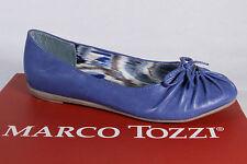 Marco Tozzi Bailarina Zapatilla Bajo ZAPATOS PUMPS azul NUEVO