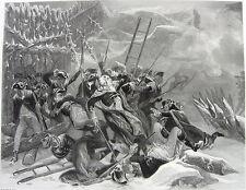Battle Quebec DEATH GENERAL MONTGOMERY ~ Old Antique 1866 Art Print Engraving