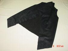 NWT Junior Women's Sueded Sherpa Faux Fur Vest No Boundaries Black Trendy Style