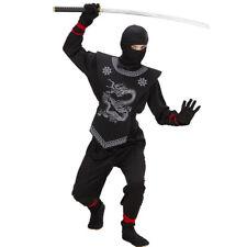 Ninja Kostüm Kinder Ninjakostüm Samurai Kinderkostüm Asia Kämpfer Krieger Outfit