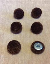 Velluto Ciniglia 24L/15mm Marrone Cioccolato Tappezzeria Stoffa coperto i pulsanti