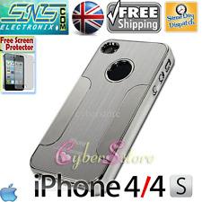 Chrome Steel Metal Blaze Thin Aluminium Case iPhone 4 4S + Free Screen Protector