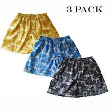 Mens Thai Silk Boxer Shorts / Underwear 3 Pairs / Paisley Hawaiian M L XL 2XL
