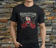 New Popular Brian Setzer The Nashvillains Rock Men's Black T-Shirt Size S-3XL