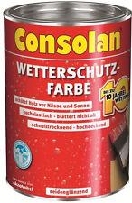Consolan Wetterschutz-Farbe 2,5 L Farbauswahl NEUWARE Grundpreis:1 L = 12,76€