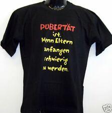 Fun T-Shirt * Pubertät schwarz S - XXL