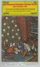 VINTAGE 1980 OLD FASHIONED CHRISTMAS JIGSAW 35 PIECE PUZZLE SEALED XMAS TREE CAT