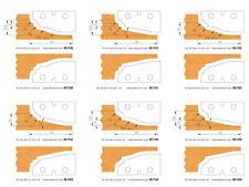 HM Wechselplatten / Profilmesser für Abplattfräser von Flury Systems  Neu