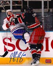 Steve Eminger New York Rangers Signed Hard Check 8x10 Montreal Canadiens