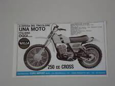 advertising Pubblicità 1975 MOTO VILLA 250 CROSS