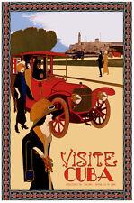 Visite Cuba POSTER.Home Interior Design.Morro Castle. Red car.Decor Art31i