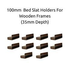 100mm x 12mm x 35mm profondità letto singolo a doghe titolari/Letto in legno CAPS Frames marrone