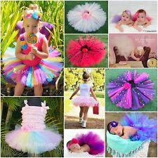 TUTU SKIRT BALLET FAIRY PRINCESS COSTUME PARTY BABY TODDLER GIRL PROP CAKE SMASH