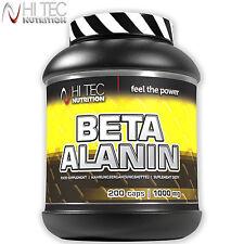 Hi Tec Beta-Alanine 200 Caps / 250g Pre-Workout Booster Energy Endurance Stamina
