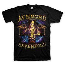 AVENGED SEVENFOLD A7X STELLAR SKULL INSCRIBED CROSS ROCK MUSIC T TEE SHIRT S-2XL