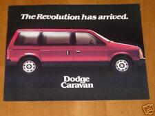 1984 Dodge Caravan Car Automobile Brochure Pamphlet