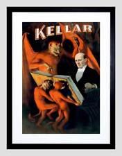 KELLAR THE MAGICIAN VINTAGE ADVERT BLACK FRAME FRAMED ART PRINT PICTURE B12X2517
