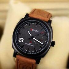 Reloj de pulsera para Hombre Moda Casual analógico banda de Cuero Regalo de lujo