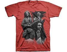 offiziell lizenziert - Bob Marley - Quad Foto T-Shirt - REGGAE LEGENDE Rasta