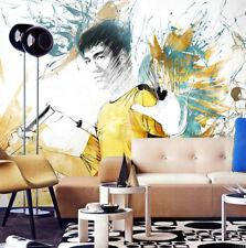 Mega Bruce Lee Play Nunchakus 655 Wall Paper Wall Print Decal Wall AJ Wall Paper