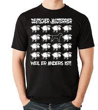 T-Shirt BLACK SHEEP - DEUTSCHER JAGDTERRIER Jäger Jagd Hund Fun Men Siviwonder