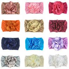 Infant Baby Girls Floral Headband Wide Elastic Band Newborn Hair Band Head Wrap
