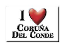 SOUVENIR ESPAÑA CASTILLA Y LEÓN MAGNET SPAIN CORUÑA DEL CONDE (BURGOS)