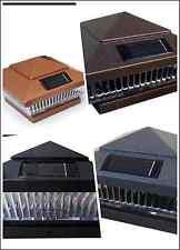 6-Pack Solar HAMMERED BROWN/BLACK/GREY/BRONZE Cap LED Lights For 6x6 Fence Post