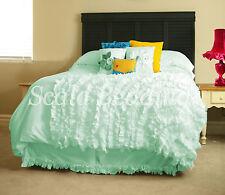 "15"" Drop Bottom Ruffle Bed Skirt 800 Tc Egyptian Cotton Twin/Full/Queen/King"