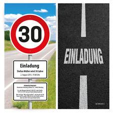 Einladungskarten zum Geburtstag als Verkehrszeichen Schild Verkehrsschild