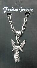 """20"""" 24"""" Inch Chain Necklace & Archangel Uriel Pendant Holy Saint St Uriʾel Angel"""