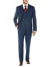 Salvatore Exte Mens Vested Suit Three-Piece 2 Button Jacket Flat Front Pants
